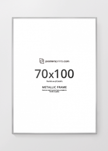 SØLVRAMME, 70x100