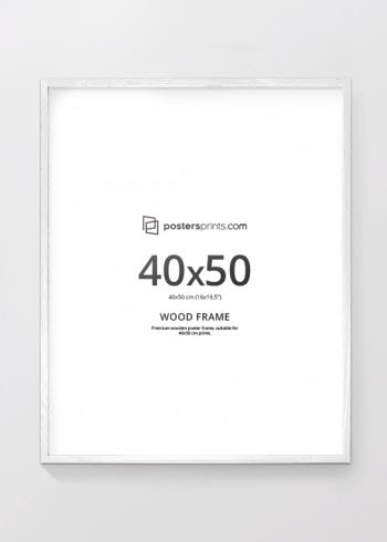 HVIT RAMME, 40x50
