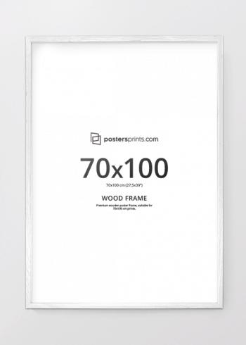HVIT RAMME, 70x100