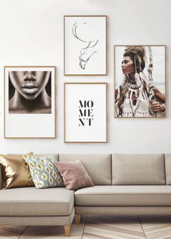 En samling posters