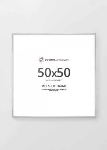 SØLVRAMME, 50x50