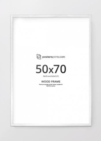 HVIT RAMME, 50x70