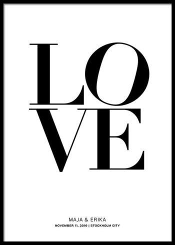 LOVE SKREDDERSYDD POSTER