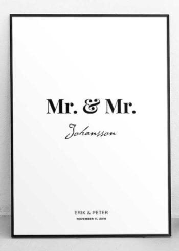 MR. & MR. SKREDDERSYDD POSTER