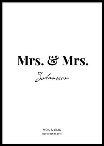 MRS. & MRS. SKREDDERSYDD POSTER
