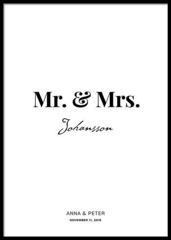 MR. & MRS. SKREDDERSYDD POSTER