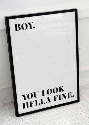 HELLA FINE BOY POSTER